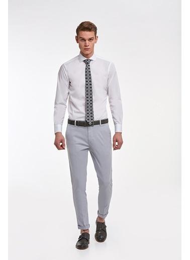 Hemington Italyan Yaka Pamuk Business Gömlek Beyaz